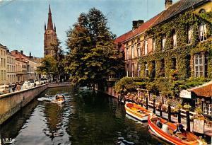 Bruges Belgium, Belgique, Belgie, Belgien Dijver et Eglise Notre Dame Bruges ...