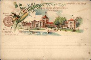 1895 Cotton State International Expo Negro Bldg Pioneer Postcard