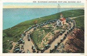 Postcard Old Spanish Lighthouse, Point Loma, San Diego, California ME3.