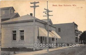 Bank New Holstein, Wis, USA Unused