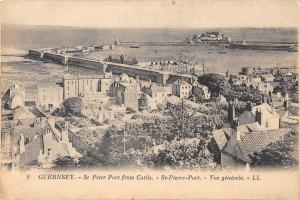 uk30583 st peter port from cotils guernsey real photo uk