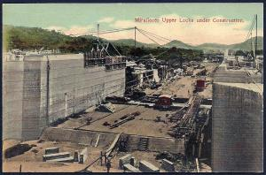 Miraflores Upper Lock Construction Panama unused c1910's