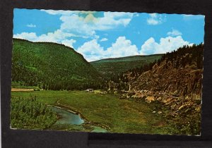 CO Wolf Creek Pass Hwy 160  ‎Mineral County Colorado‎ Mountains Postcard