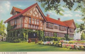 Michigan Battle Creek C W POst Memorial Club House 1950 Curteich