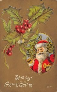 Santa Claus Postcard Old Christmas Post Card Unused