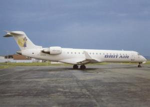 BRIT AIR, Canadair RJ700, unused Postcard