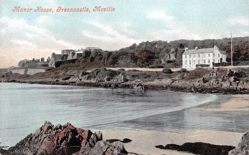 GREENCASTLE MOVILLE COUNTY DONEGAL IRELAND UK MANOR HOUSE POSTCARD 1910s