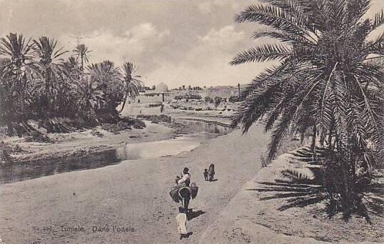 Tunisia Dans l'oasis 1909