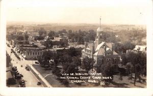 Carroll Iowa~Victorian County Courthouse (Razed 1965) Main Drag~Homes RPPC c1928