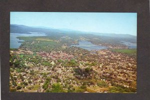 NH Aerial View Laconia New Hampshire Bldgs Houses Store Postcard