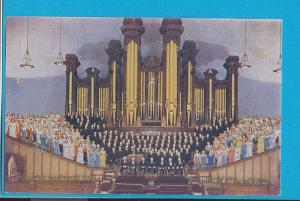 Postcard Mormon Tabernacle Choir Temple Square Salt Lake City, Utah    # 211