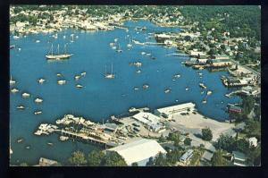 Boothbay Harbor, Maine/ME Postcard, Aerial View Of Harbor #2