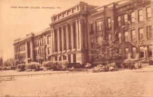 MILWAUKEE WISCONSIN STATE TEACHERS COLLEGE~SEPIA POSTCARD 1940s