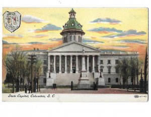 Early View South Carolina State Capitol Columbia South Carolina