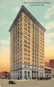 Jacksonville Florida~Heard National Bank Building~c1910 H&WB Drew Co Postcard