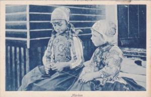 Netherlands Marken Children In Typical Costume
