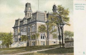 JANESVILLE, Wisconsin, 1900-10s; Rock County Court House, TUCK # 5807