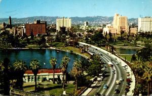 California Los Angeles Wilshire Boulevard Through General Douglas MacArthur B...