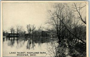 Wooster, Ohio Postcard Lake Talbot, HIGHLAND PARK c1910s Unused
