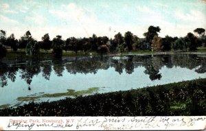 New York Newburgh Scene In Downing Park 1907