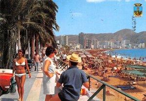 Paseo y Playa de Levante Benidorm Spain 1973