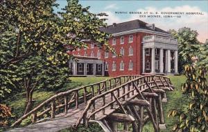 Rustic Bridge At Us Goverment Hospital Des Moines Iowa