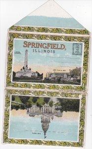 Folder Postcard ,SPRINGFIELD , Illinois , 1910s