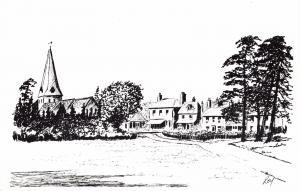 Postcard Art Sketch WOODCHURCH Village Nr Ashford Kent, by Roy #W