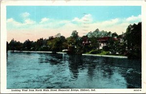 Indiana IN Elkhart  Bridge Postcard Old Vintage Card View Post PC