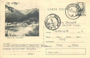 Romania postal stationery postcard Tusnad baths