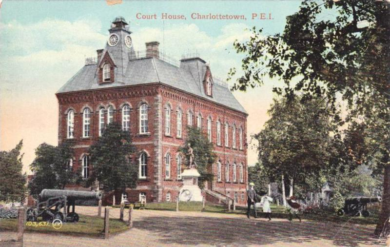 Exterior, Court House,Charlottetown,P.E.I.,Canada,PU-1913
