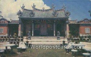 Chinese Temple Penang Malaysia Writing On Back