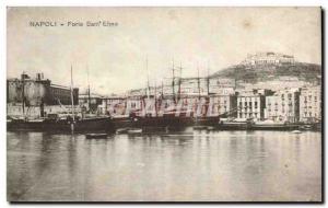 Old Postcard Italy Italia Napoli Forte Sant Elmo