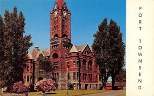 Port Townsend Washington~Jefferson County Court House~1950s Postcard