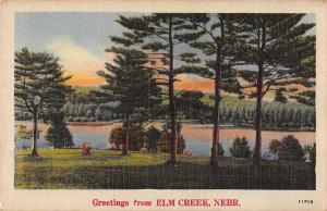 Elm Creek Nebraska Greetings Scenic View Vintage Postcard JC933029
