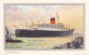 Steamer/Ship/Oceanliner, Cunard R. M. S. Ivernia, Captain H. J. Chaloner, R...