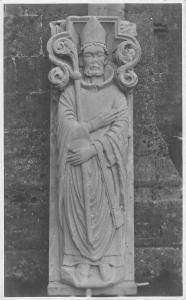 uk28566 saint religion church sculpture to identify real photo uk
