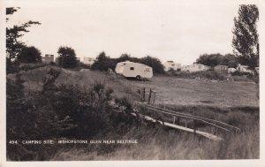 Bishopstone Beltinge Caravan Club Camping Site Wiltshire Real Photo Old Postcard