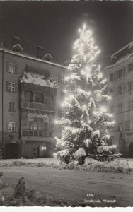 RP ; INNSBRUCK , Austria , 1930s ; Altstadt, Christmas Tree at night
