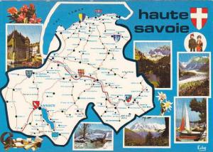 Map Of Haute Savoie France Multi View