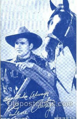 Gene Autry, Western Arcard Cards, non-postcard backing  Gene Autry,