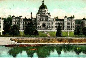 Vtg Postcard 1910 Provincial Government Buildings - Victoria British Columbia