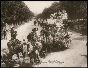 Austria 1908 Kaiser Franz Joseph Huldigungs Festival RPPC 94847
