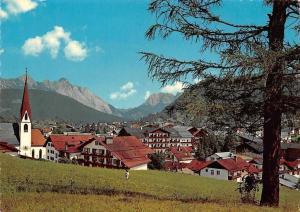 Seefeld Tirol Blick gegen Karwendel Mountains Panorama