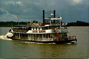 Louisiana Taulouse Stern Wheeler Cotton Blossom Departing From Street Whart A...