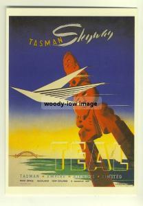 ad2732a  -  TEAL,  Tasman Empire Airways Ltd   -  modern poster advert postcard