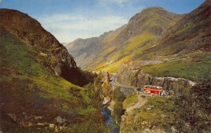 Looking Into the Gorge Glen Coe River Road Bus Postcard
