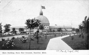 Hamline Minnesota State Fair Grounds Main Building Antique Postcard K15390