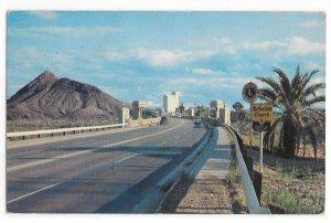 AZ Tempe Arizona City View Across Bridge Bob Van Luchene Photo Vintage Postcard
