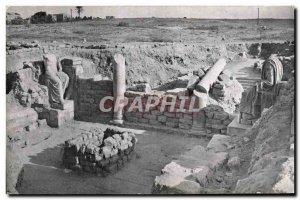 Old Postcard Caesarea Roman statues